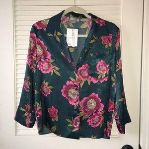 ASOS Floral Pajama Shirt Sz. 8